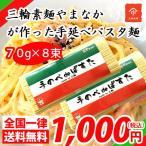 送料無料 ポイント消化 お試し  三輪素麺やまなか 手のべ de ぱすた 4束 PS-07