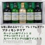 【モンデ酒造】缶ワイン プティモンテリア 5本入りギフト ルージュ2  ブラン2 スパークリング1