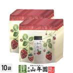 国産 静岡県産 紅ほっぺ(いちご)の和紅茶 10g(2g×5)×10袋セット ティーパック ティーバッグ いちご紅茶 ストロベリーティー