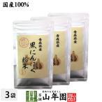 健康食品 国産100% 青森県産 黒にんにく粉末 30g×3袋セット 青森県の豊かな大地で育った大粒のにんにくを熟成