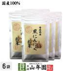 健康食品 国産100% 青森県産 黒にんにく粉末 30g×6袋セット 青森県の豊かな大地で育った大粒のにんにくを熟成