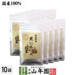 健康食品 国産100% 青森県産 黒にんにく粉末 30g×10袋セット 青森県の豊かな大地で育った大粒のにんにくを熟成