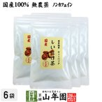 健康茶 国産100% しいたけ茶 ティーパック 無農薬 3g×10パック×6袋セット 静岡県産 送料無料
