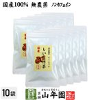 健康茶 国産100% しいたけ茶 ティーパック 無農薬 3g×10パック×10袋セット 静岡県産 送料無料