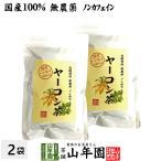 健康茶 国産100% 無農薬 ヤーコン茶 3g×10パック×2袋セット 山梨県産 ノンカフェイン 送料無料