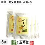 健康茶 国産100% 無農薬 ヤーコン茶 3g×10パック×6袋セット 山梨県産 ノンカフェイン 送料無料