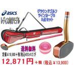 アシックス グランドゴルフクラブ ツインカーブS(一般右打者専用) GGG−178 ケースGGL807 ボールはGGG330の 3点セット グランドゴルフ用品