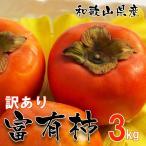 【お試し】富有柿 訳あり富有柿 和歌山県産  3kg(サイズ不揃い、ご自宅用)【送料無料】 甘柿