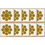 Yahoo!ヤマトデザインヤフー店九曜星  家紋シール10cm 10枚入り【九曜星】 10枚入りは、1枚当たり500円(税別)でお得です。