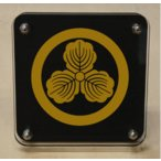 Yahoo!ヤマトデザインヤフー店家紋盾10cm スタンド型二層式の家紋盾 【丸に三つ柏】 当店のお勧め商品です。