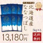 新米 米 30kg お米 5kg ×6袋 ななつぼし 白米 北海道産 うるち米 精白米 ごはん