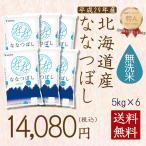 米 30kg お米 5kg×6袋 ななつぼし 無洗米 北海道産 うるち米 ごはん