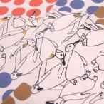 50cm単位  かわいいポップなペンギンが大集合  生地 布 使いやすい 手芸の柳屋