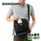 ショルダー バッグ メンズ ショルダーバック シンプル 送料無料 黒 斜めがけバッグ 軽量 軽い メッセンジャーバッグ ビジネス 無地 SW9006 SWISSWIN