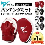 パンチングミット パンチング グローブ ミット ボクシング TRAN 黒 キックボクシング 格闘技 空手 テコンドー 練習用 2個セット フリーサイズ