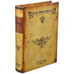 秋月貿易 アンティーク風 シークレットボックス Sサイズ 「Les Miserables」 洋書型 小物入れ アクセサリー 収納 金庫 ケー