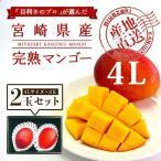 宮崎完熟マンゴー 2個セット 4Lサイズ ギフト プレゼント 贈答品 母の日、父の日