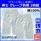 クレープ肌着 ステテコ 2枚組 半ズボン下 綿100% 前開き ちぢみ 涼しい 紳士 クレープ 肌着 インナー メンズ