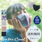 マスク ウォータークールマスク 夏用 冷感 小さめ 子供用 洗える UPF50+