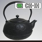 IH対応南部鉄瓶 平丸菊2.2L (急須 南部鉄器 南部鉄瓶) (NT1)