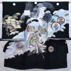 お宮参り産着 男児 男の子 正絹 のしめ 祝着 初着 紋付き 羽二重 新品 (株)安田屋 n198763421