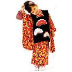 七五三 3歳 3才 三才 三歳 女児 女の子 祝着被布着物フルセット 日本製 式部浪漫 松柄 ポリエステル 新品 (株)安田屋 g254110941