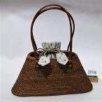 かごバッグ アタ 天然植物 持手部分は革 巾着取り外し可能 小さめサイズ 新品 (株)安田屋f279284188