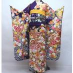 振袖 正絹 着物単品 仕立て上がり 紫地 百花繚乱 新品 (株)安田屋 p732995289