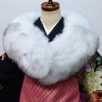 ショール ブルーフォックス FOX 縫製:日本 着物やドレスに合わせて♪ 成人式、結婚式、結納、初詣、パーティにどうぞ!新品 (株)安田屋 d378275932