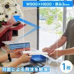 アクリルパーテーション 窓有り 1枚 幅900mm×高600mm AP-TD アクリルパネル 仕切り板 コロナ対策 パーティション 飛沫感染防止 アクリル板 ついたて