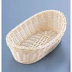 樹脂バスケット 舟型 26cm 白