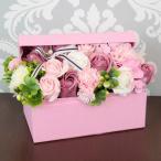 ソープフラワー ボックス アレンジメント おしゃれ シャボンフラワー 誕生日 プレゼント 観賞用 ピンク