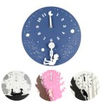 掛け時計 おしゃれ 壁掛け時計 花柄やキツツキのかわいい時計 選べる4種