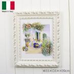 イタリア 額絵 壁飾り 洋画 風景画 W33×D3×H39cm 91657
