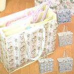 ハンガー収納ボックス 花柄 猫柄 PVC 洗濯用品収納 選べる4種