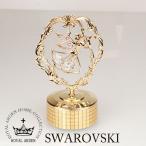 スワロフスキー 置物 オルゴール プレゼント 天使 1678 W8×D6.5×H14cm