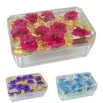 小物入れ ふた付き アクリル 水中花 薔薇柄 花柄 350ml 選べる3色