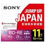 SONY ビデオ用ブルーレイディスク 11BNE1VSPS2 (BD-RE 1層 25GB 2倍速 10枚+1枚の増量パック)