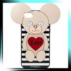  アイフォリア 公式 正規品 iPhone 7/8対応 Teddy Love Stripes for