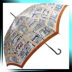 ショッピングマンハッタナーズ Manhattaner`s 日本製雨傘(長傘) 猫のマンハッタン凱旋 オレンジ KM-82L