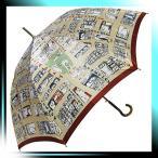 ショッピングマンハッタナーズ Manhattaner`s 日本製雨傘(長傘) 猫のマンハッタン凱旋 ベージュ KM-82L