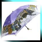 ショッピングマンハッタナーズ Manhattaner`s 日本製雨傘(ミニ傘) ポンテ・ベッキオ橋と猫友たち パープル KM-83M