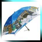 ショッピングマンハッタナーズ Manhattaner`s 日本製雨傘(ミニ傘) ポンテ・ベッキオ橋と猫友たち ブルー KM-83M