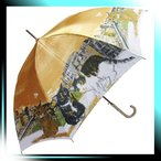 ショッピングマンハッタナーズ Manhattaner`s 日本製雨傘(長傘) ポンテ・ベッキオ橋と猫友たち オレンジ KM-83L