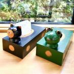 アジアンバリ雑貨♪バリアニマルティッシュBOX(ネコ・カエル)♪インテリアおしゃれエスニックティッシュケースティッシュボックス木製アニマル