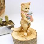 アジアンバリ雑貨♪ネズミ抱っこネコ♪インテリアおしゃれエスニック置き物オブジェアンティークアニマル