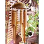 アジアン 雑貨 バリ ♪バリ島のバンブー風鈴(M)♪ 壁飾り 風鈴 ウィンドチャーム ウィンドチャイム 壁掛け オブジェ 木製 バンブー エスニック クリスマス