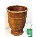 アジアン雑貨 バリ ♪ロンボクビンカットバスケット(M)♪ バスケット かご ごみ箱 ダストボックス バンブー エスニック