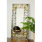 アジアン雑貨 バリ (マーテルミラー(ゴールドA) 壁掛け 鏡 ミラー エスニック