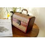 アジアン 雑貨 バリ ♪アンティーク調 バンブーBOX(宝箱Mサイズ)♪ 小物入れ アクセサリーケース 木製 エスニック